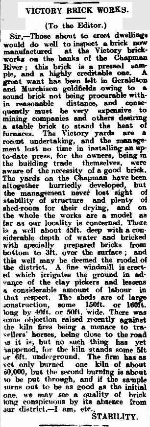 Victory Brickworks 28 June 1907 pg2
