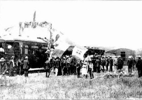 1910 Nabawa Siding. Governors Train to Naraling