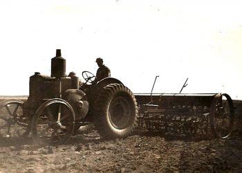 John Batten tractor & seeder 1940