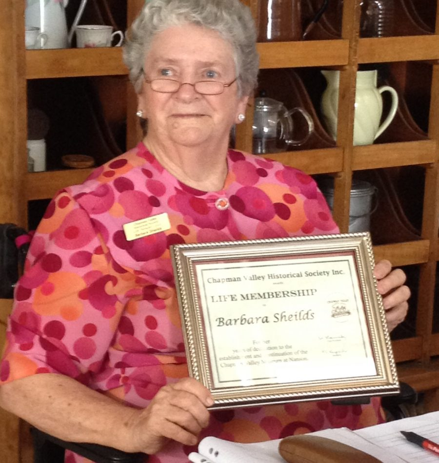 Life Member CVHS - Barbara Sheilds